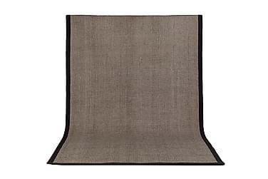 Niven Gulvteppe 160X230 Mørkebrun/Mørkegrå