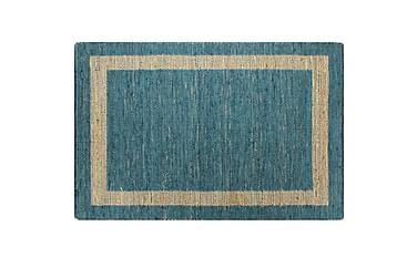 Håndlaget teppe jute blå 120x180 cm