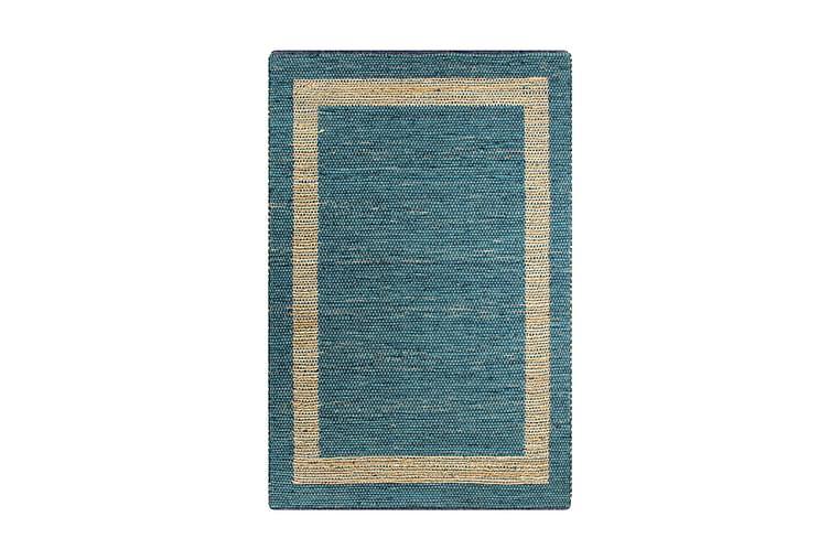 Håndlaget teppe jute blå 80x160 cm - Innredning - Tepper & Matter - Håndvevde tepper