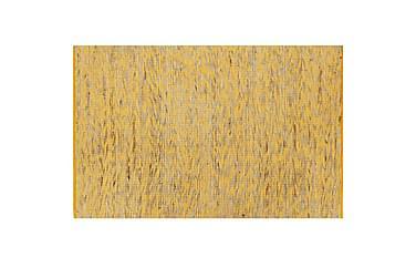 Håndlaget teppe jute gul og naturlig 80x160 cm