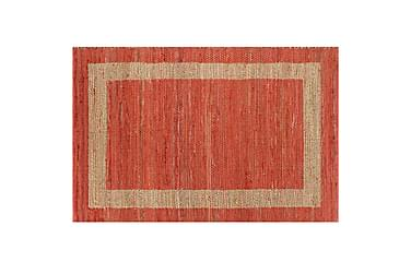 Håndlaget teppe jute rød 120x180 cm