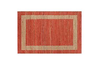 Håndlaget teppe jute rød 80x160 cm