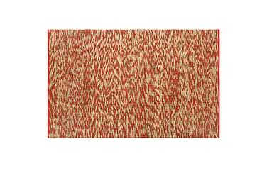 Håndlaget teppe jute rød og naturlig 80x160 cm