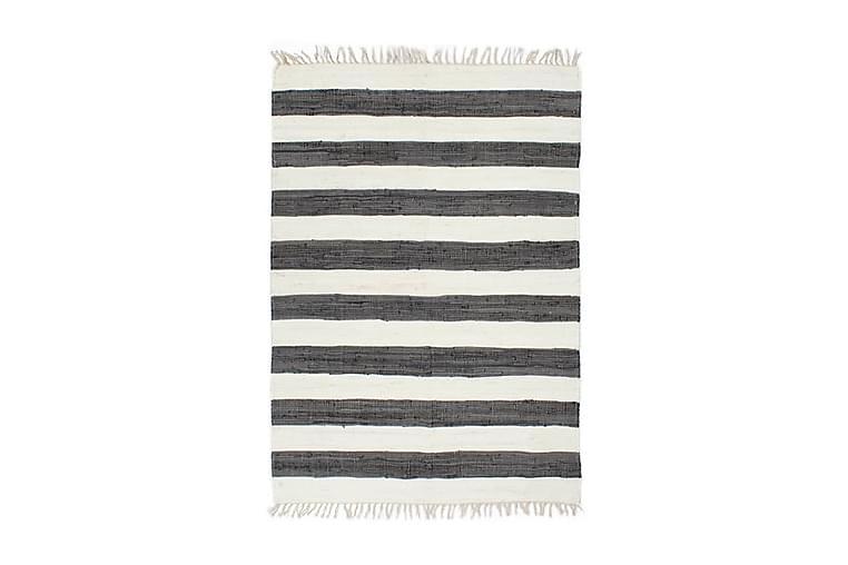 Håndvevet Chindi teppe bomull 120x170 cm antrasitt og hvit - Innredning - Tepper & Matter - Håndvevde tepper
