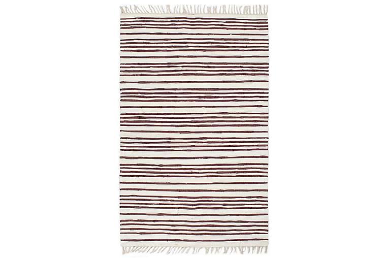 Håndvevet Chindi teppe bomull 200x290 cm burgunder og hvit - Innredning - Tepper & Matter - Håndvevde tepper