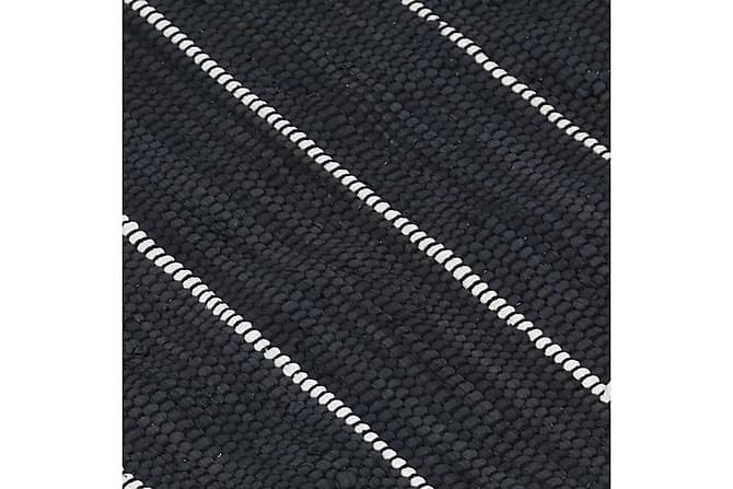 Håndvevet Chindi teppe bomull 80x160 cm antrasitt - Innredning - Tepper & Matter - Håndvevde tepper