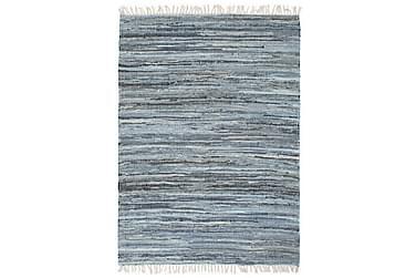 Håndvevet Chindi teppe denim 80x160 cm blå