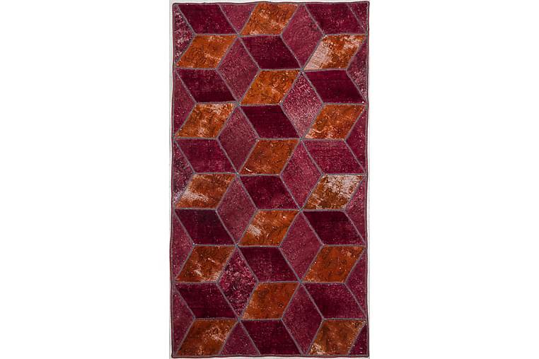 Håndknyttet Lappeteppe Ull/Garn Flerfarget 101x177 cm - Innredning - Tepper & Matter - Patchwork tepper