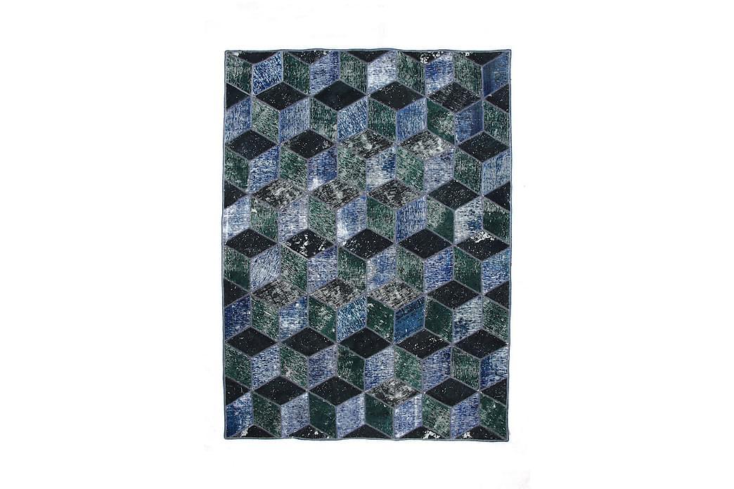 Håndknyttet Lappeteppe Ull/Garn Flerfarget 179x246 cm - Innredning - Tepper & Matter - Patchwork tepper