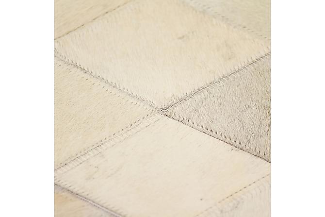 Lumby Lappeteppe 120x170 Diamant Lær - Grå - Innredning - Tepper & Matter - Skinn & pelstepper