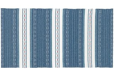 Astor Plastmatte 70x160 Vendbar PVC Blå