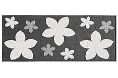 Flower Plastmatte 70x50 Vendbar PVC Svart