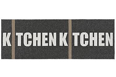 Kitchen Plastmatte 70x250 Vendbar PVC Svart