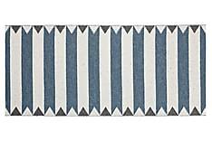 Peak Plastmatte 70x50 Vendbar PVC Blå