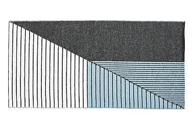 Stripe Plastmatte 70x140 Vendbar PVC Svart/Blå