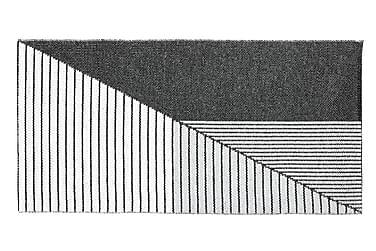 Stripe Plastmatte 70x210 Vendbar PVC Svart/Grå