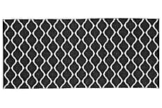 Wave Plastmatte 70x50 Vendbar PVC Svart