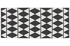 Zigge Plastmatte 70x250 Vendbar PVC Svart