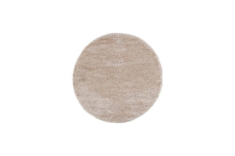 Cozy Lyx Ryematte 80 cm Rund - Linfarge - Innredning - Tepper & Matter - Runde tepper