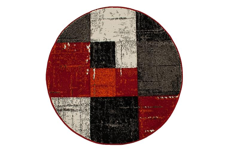 London Square Friezematte Rund 160 - Rød/Oransje - Innredning - Tepper & Matter - Runde tepper
