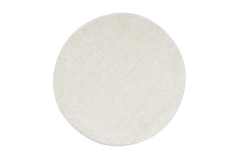Shaggy flossteppe 67 cm kremhvit - Krem - Innredning - Tepper & Matter - Runde tepper