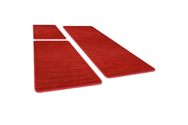 Soveromstepper 3 stk tykk lugg rød - Rød - Innredning - Tepper & Matter - Ryeteppe