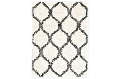 Teppe raggete PP beige og grå 120x170 cm