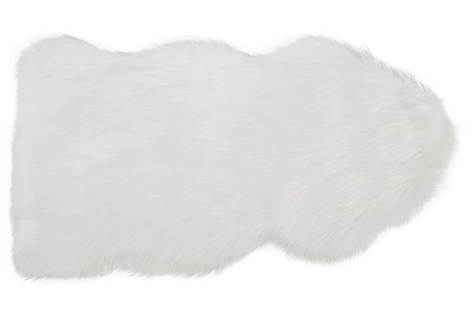 Huang Fäll Långhår 60x100 - Hvit - Innredning - Tepper & Matter - Skinn & pelstepper