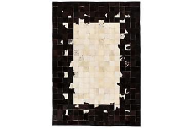 Lumby Lappeteppe 160x230 Firekanter Lær