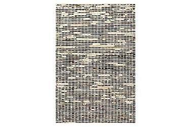 Teppe ekte kuskinn med hår 80x150 cm svart/hvit