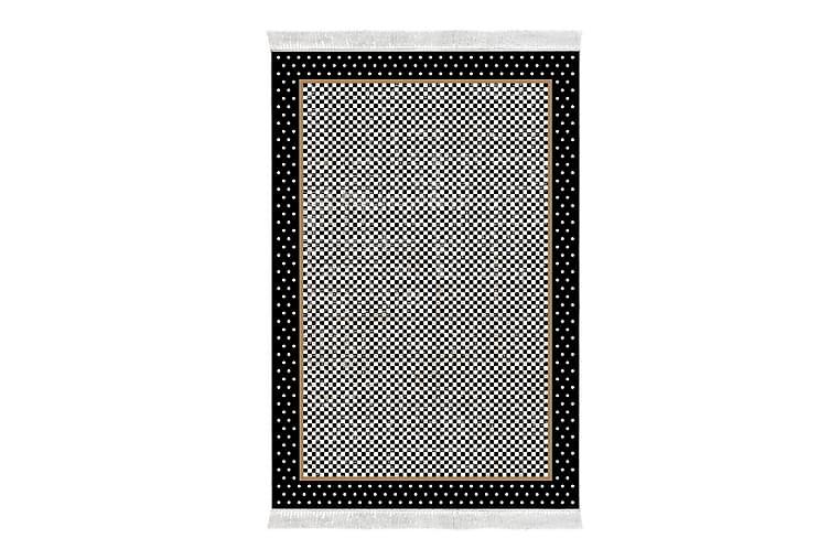 Alanur Home Matte 80x300 cm - Svart/Grå/Kremhvit - Innredning - Tepper & Matter - Små tepper