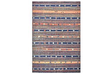 Teppe blå og oransje 120x170 cm PP