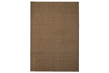 Teppe sisal-aktig utseende innendørs/utendørs 120x170cm brun