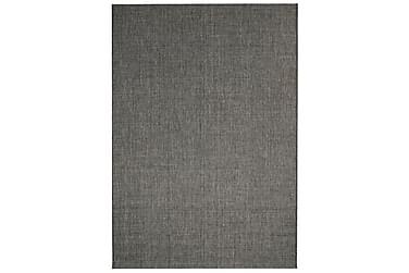 Teppe sisal-aktig utseende innendørs/utendørs mørkegrå