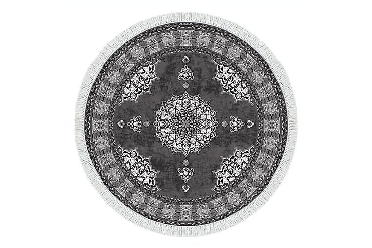 Alanur Home Matte 180 cm Rund - Grå/Hvit - Innredning - Tepper & Matter - Store tepper
