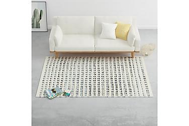 Teppe denim ull 140x200 cm blå/hvit