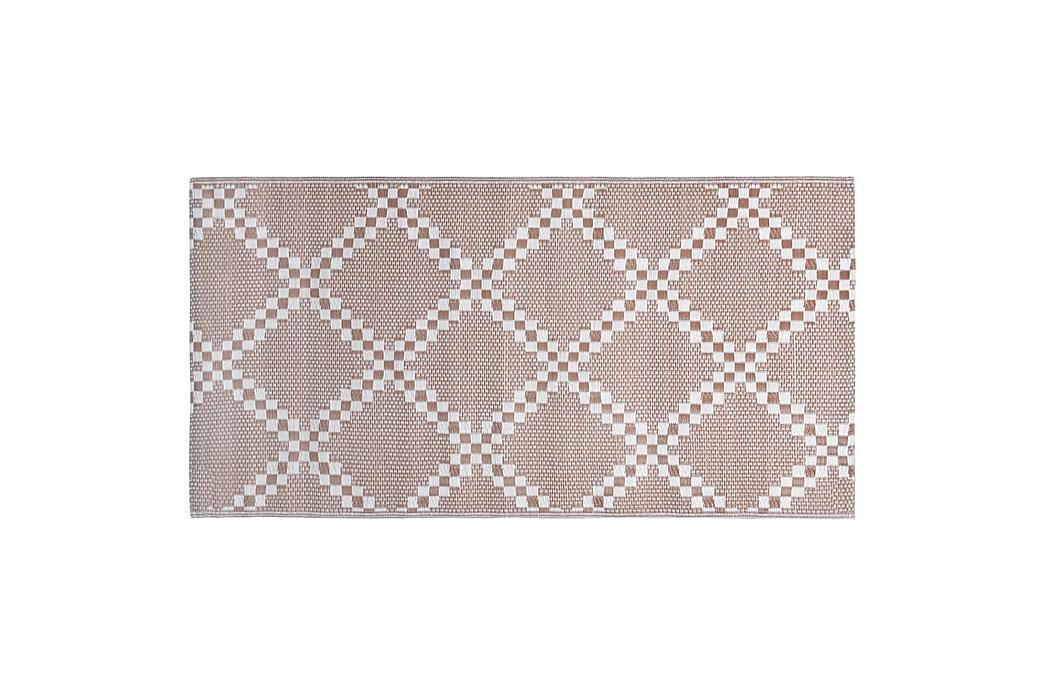 Uteteppe brun 80x150 cm PP - Innredning - Tepper & Matter - Utendørs tepper