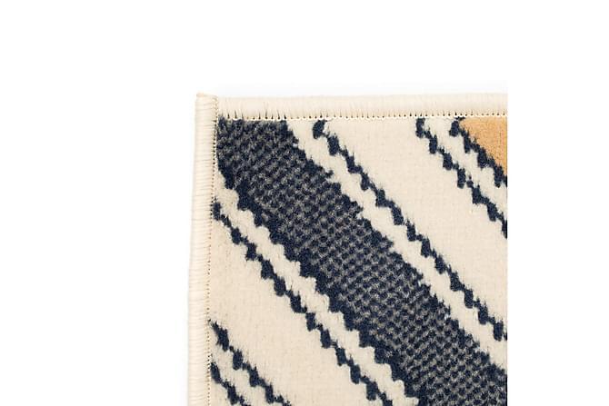 Aurick Moderne Matte 120x170 Sikksakkdesign - Brun/Svart/Blå - Innredning - Tepper & Matter - Små tepper