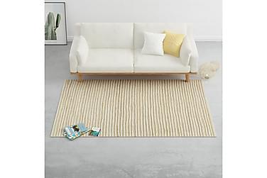 Teppe ull 160x230 cm naturlig/hvit
