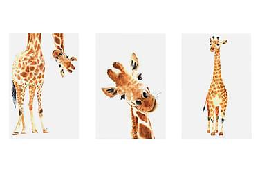Bilde Funny Giraffes 3 Parts 60x30