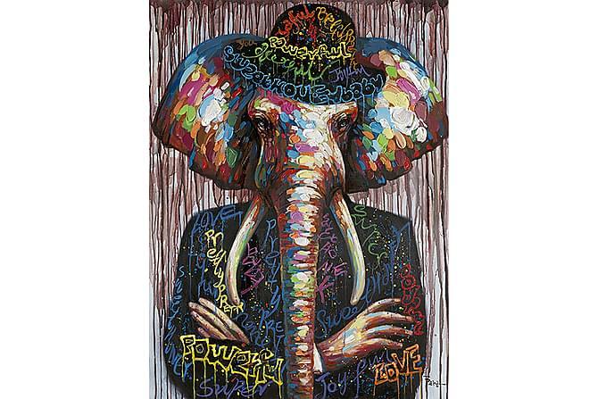 Elefantmannen Kanvasbilde - 90x120 - Innredning - Veggdekorasjon - Bilder & kunst