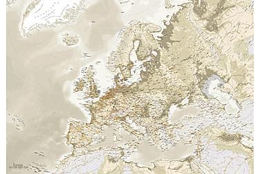 Euro Map Vintage Kanvasbilde