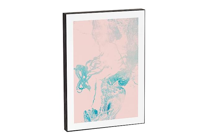 Heaven on third Pink blues - Innredningsblokk 21x15x2cm - Innredning - Veggdekorasjon - Bilder & kunst