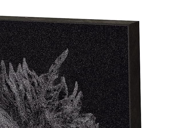 Mad Shiso Leave, Black & Red - Innredningsblokk 21x15x2cm - Innredning - Veggdekorasjon - Bilder & kunst