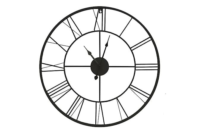 Black Klokke - 60x60 cm - Innredning - Veggdekorasjon - Klokker