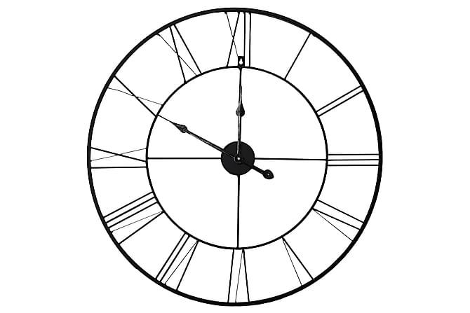 Black Klokke - 80x80 cm - Innredning - Veggdekorasjon - Klokker
