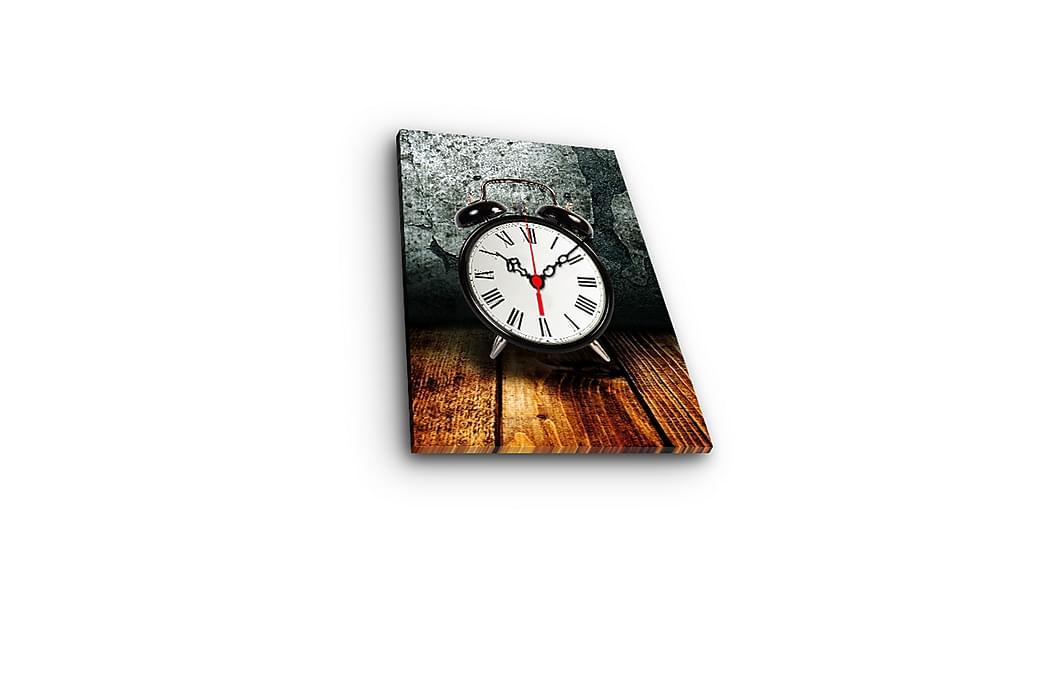 Dekorativ Canvasbilde med Klokke - Flerfarget - Innredning - Veggdekorasjon - Klokker