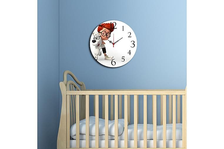 Dekorativ MDF-Klokke - Flerfarget - Innredning - Veggdekorasjon - Klokker