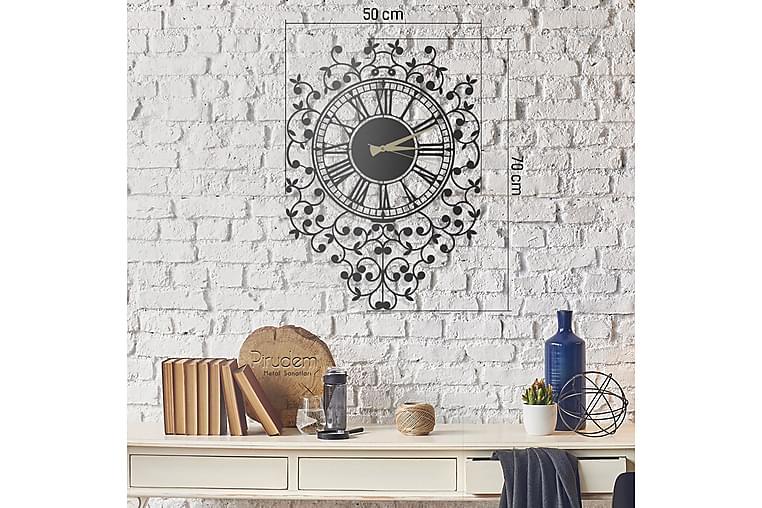Dekorativ Metallveggklokke - Svart - Innredning - Veggdekorasjon - Klokker