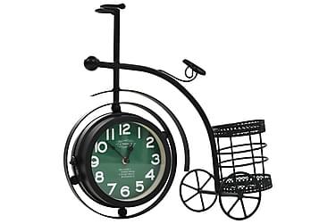 Dobbeltsidig klokke med gammeldags sykkel